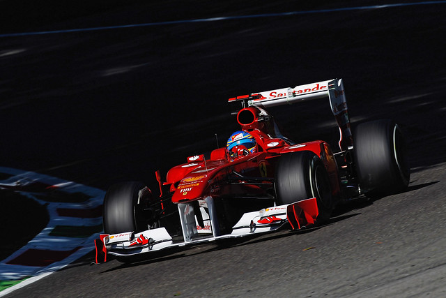 Fernando Alonso in the Ferrari 150° Italia at the Italian Grand Prix Free Practice