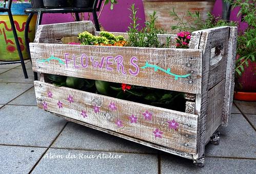 Reciclagem de caixote de frutas