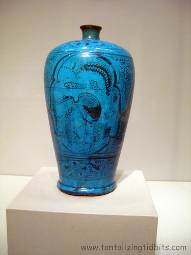 sanfrancisco blue art museum asian asia vase asianartmuseum bluevase