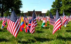 UNI Remembers 9/11 (Mariah Wilson) Tags: 2001 trees grass america canon remember 911 pride flags tribute september11 2011 universityofnortherniowa rebelsep