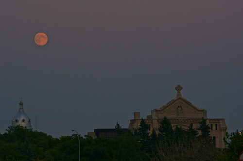 Moonrise over St Boniface