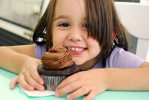 Happiness is a Chocolate Cupcake