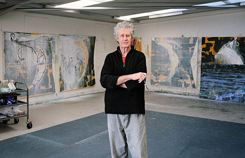 John Firth-Smith in his Chippendale Studio - Photographed by Kent Johnson.
