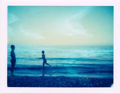 ° (Ilaria ♠) Tags: summer beach polaroid genova 669 colorpackii cogoleto contest22fotografiaanalogicaitalia
