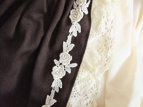 Classical Bustle Skirt Detail