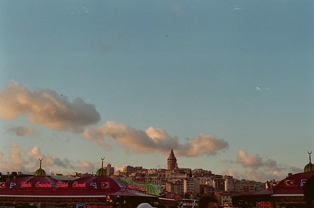 evening skyline.