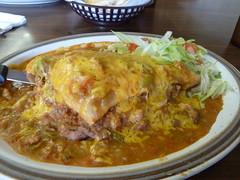 Stuffed Sopaipilla (jillmotts) Tags: food newmexico restaurant mexicanfood sopapilla sopaipilla stuffedsopaipilla