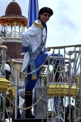 Eric smurks at the camera - Celebrate a Dream Come True Parade (Carousel-of-Progress) Tags: world ariel true orlando eric florida magic dream kingdom prince disney parade come walt celebrate thelittlemermaid facecharacter