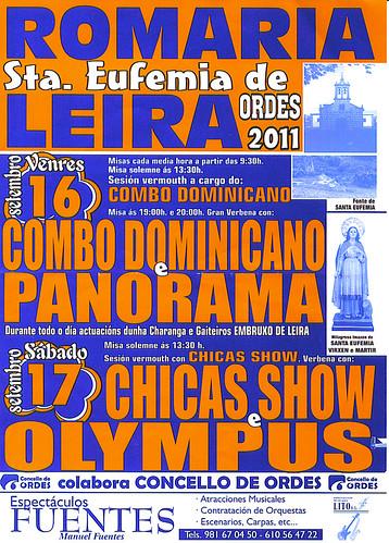 Ordes 2011- Festa de Santa Eufemia en Leira - cartel