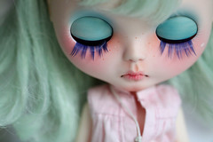 Blythe (Aya_27) Tags: by bigeyes amazing doll sad heart mint blythe minty lovely emilie custom