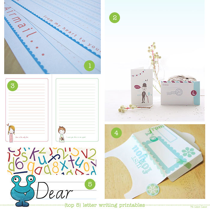 {top 5} letter wrtiting printables