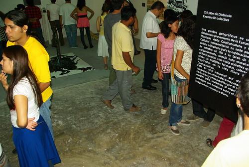Fotos de la Inauguración del la Exposición Colectiva  609.3 Km de Distancia en el Ccinemedia