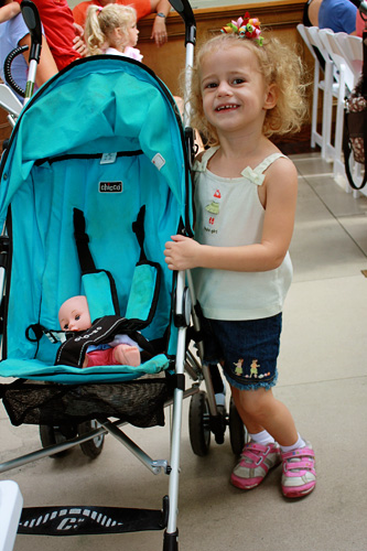 Aut-and-her-stroller
