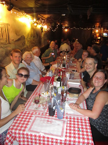 The family at our annual Bruno's dinner