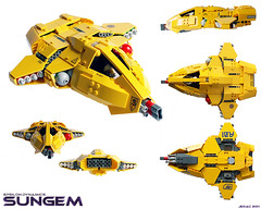 Sungem Light Bomber (Jerac) Tags: lego bomber dynamics epsilon starfighter