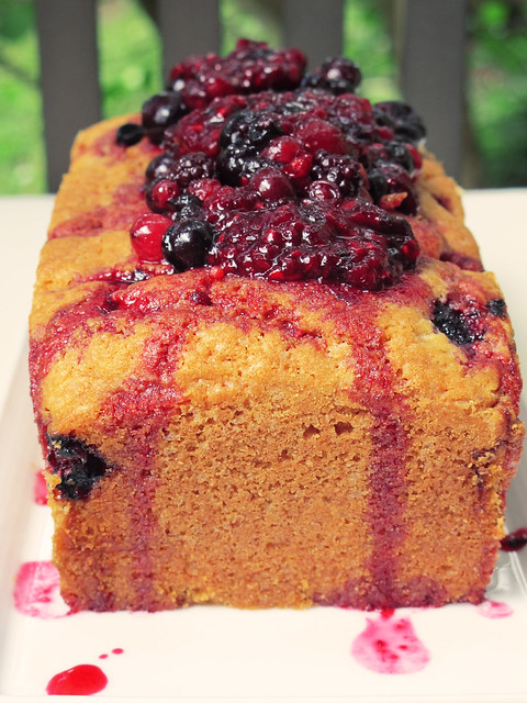 Cake aux fruit rouge
