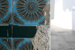 chipped away (Serenae) Tags: blue summer beautiful tile ceramic august morocco asilah 2011