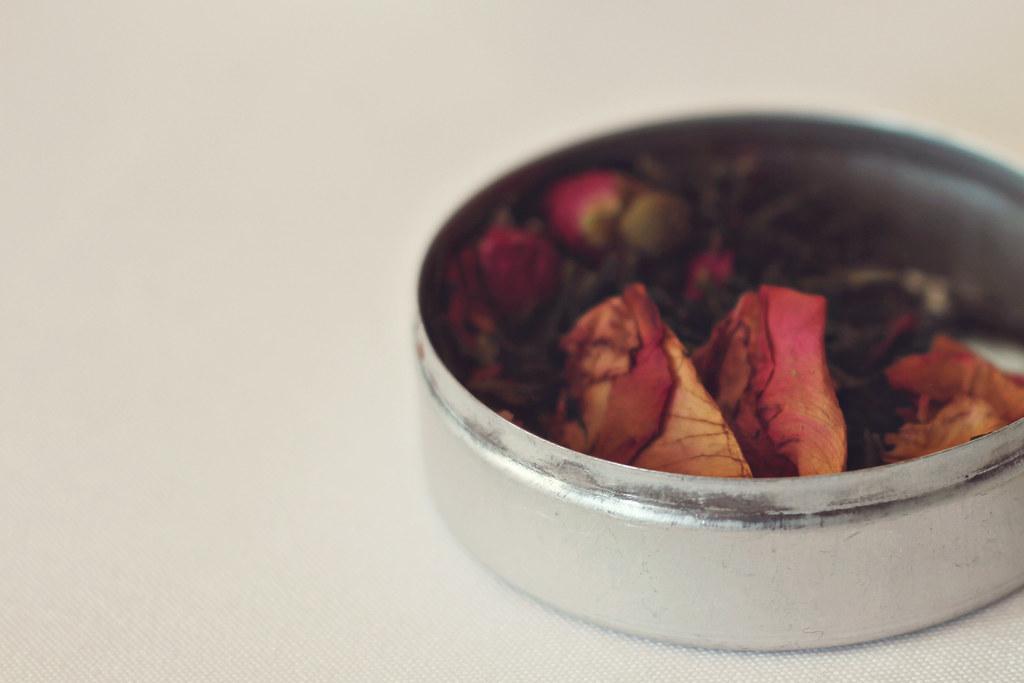 thé vert parfumé rose et fraise