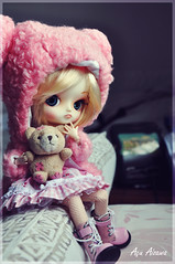 My Cute Teddy Bear - Tagged! (Au Aizawa) Tags: bear pink fashion japanese doll dal teddybear frara furara