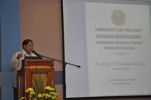 Angara Keynotes 10th Anniversary of UERM Grad School (August 12, 2011)