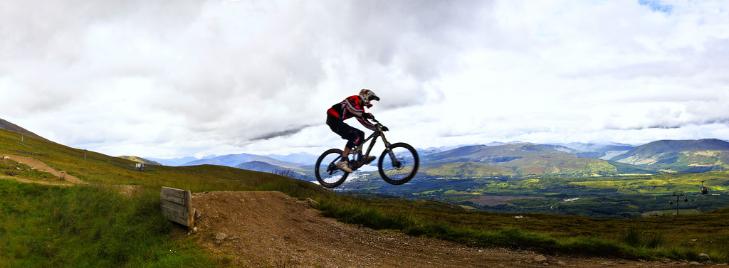 Riding down the Nevis Range, Fort William (UK)