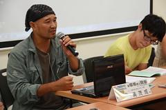 台南社大台江分校執行長吳茂成(左)、苦勞網記者王灝中(右)