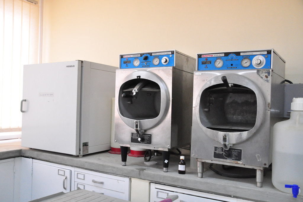 Autoclaving machines at Bioscience Center