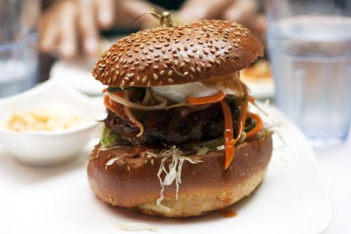 bibimbap burger @ social eatz