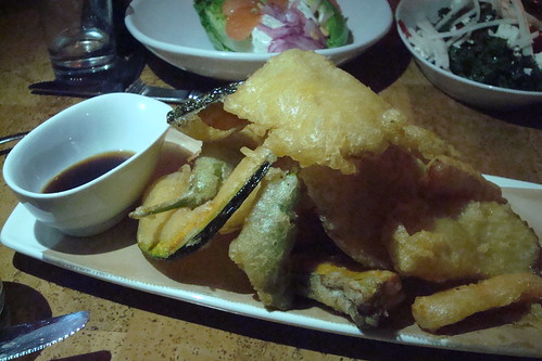 Squash & Chips seltzer battered kabocha squash, potato slices, carrots & peppers, yuzu ponzu