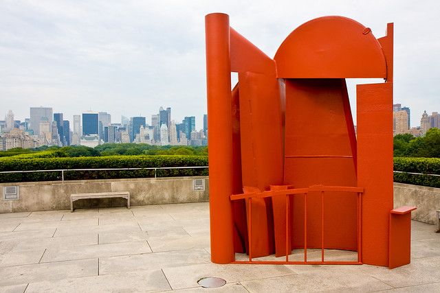 Anthony Caro on the rooftop at the Met