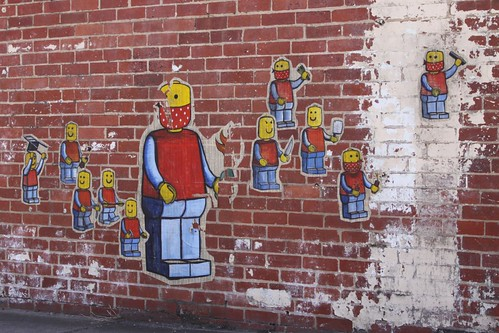 'Paste up' street art in Footscray