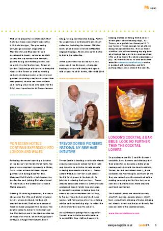 The Cocktail Lovers featured in PA Magazine
