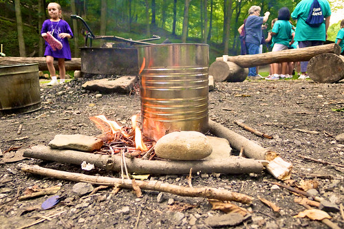 Twilight Camp 2011:  My first campfire.