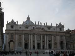 St Peter's Basilica and St Peter's Square, Rome  (asianfiercetiger) Tags: vatican rome roma vaticano stpeterssquare stpetersbasilica   basilicadisanpietro petersdom    basiliquesaintpierre