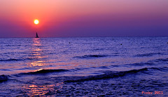 Sunrise-Torre dell'orso,Apulia,Italy (Piskv) Tags: sunset sea italy eye sunrise fire photo eyes nikon italia tramonto torre alba dusk down salento puglia apulia otanto d3100 dllorso
