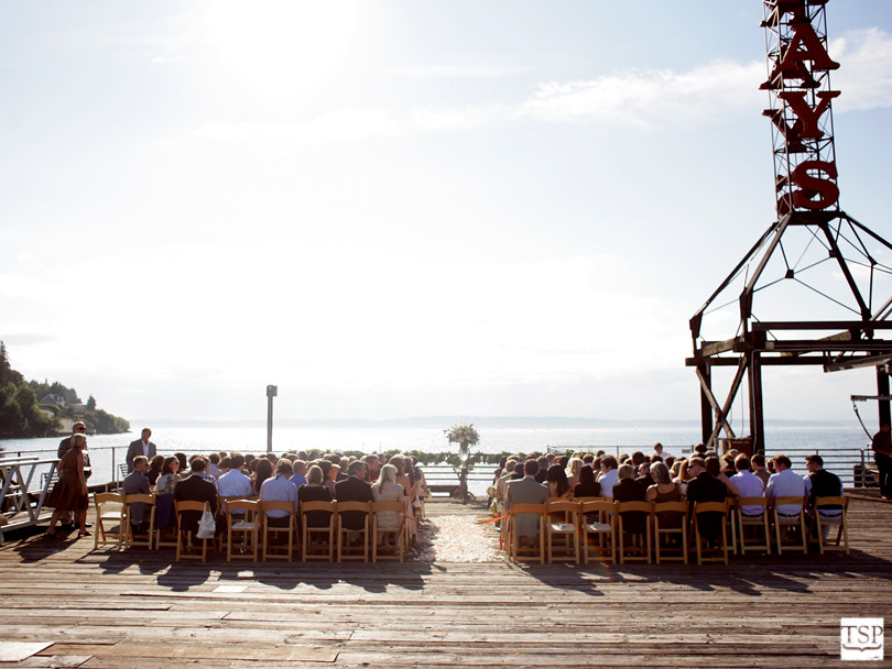 Outdoor Wedding Ceremony at Ray's Boathouse