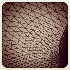 GREAT COURT (szen_volta) Tags: city uk roof urban building london glass up museum architecture ceiling britishmuseum greatcourt instagramapp uploaded:by=instagram
