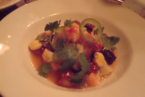 Prawn & Scallop Ceviche, Aji Amarillo, Red Berries