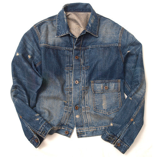 Rugby / Distressed Denim Jacket