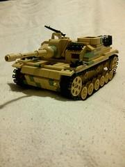 Sturmgeschtz III Ausfhrung G (Aaron Patrick Morse) Tags: tank lego military wip worldwarii ww2 minifig tanks panzer moc wehrmacht sturmgeschtz stug panzerkampfwagen brickarms