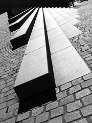 Riverside steps #2 (phunnyfotos) Tags: shadow bw monochrome architecture stairs canon stair shadows steps australia monotone brisbane ombre cobblestones step queensland paving canonpowershots2is canonpowershot blueribbonwinner blackwhitephotos blackwhitepics anawesomeshot flickrdiamond phunnyfotos