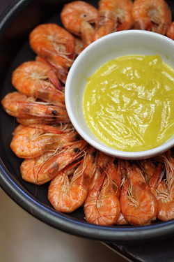 shrimp and aioli