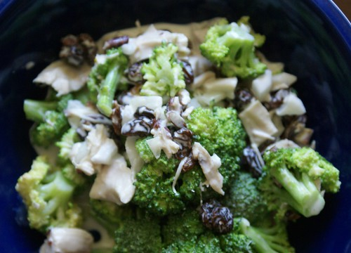 broccoli chicken salad, cropped
