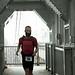 Alex Bellini running on the Washington Bridge - Jeep People