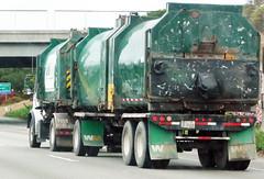 WM Trash Hauler (Photo Nut 2011) Tags: california bridge trash truck garbage pod junk wm freeway waste refuse sanitation garbagetruck wastemanagement trashtruck wastedisposal heilpod