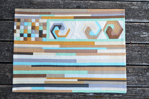 For the Love of Solids [a modern swap] - wall quilt - complete