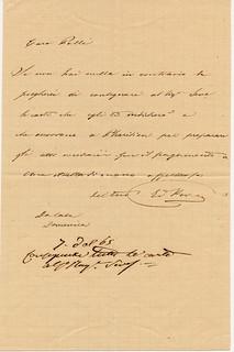 Lettera di Edoardo Kramer all'avvocato Polli