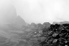 Mist (vvladimirovich) Tags: b light bw white mist black fall water dark waterfall rocks w shades niagara falls shade gradient fade vapor