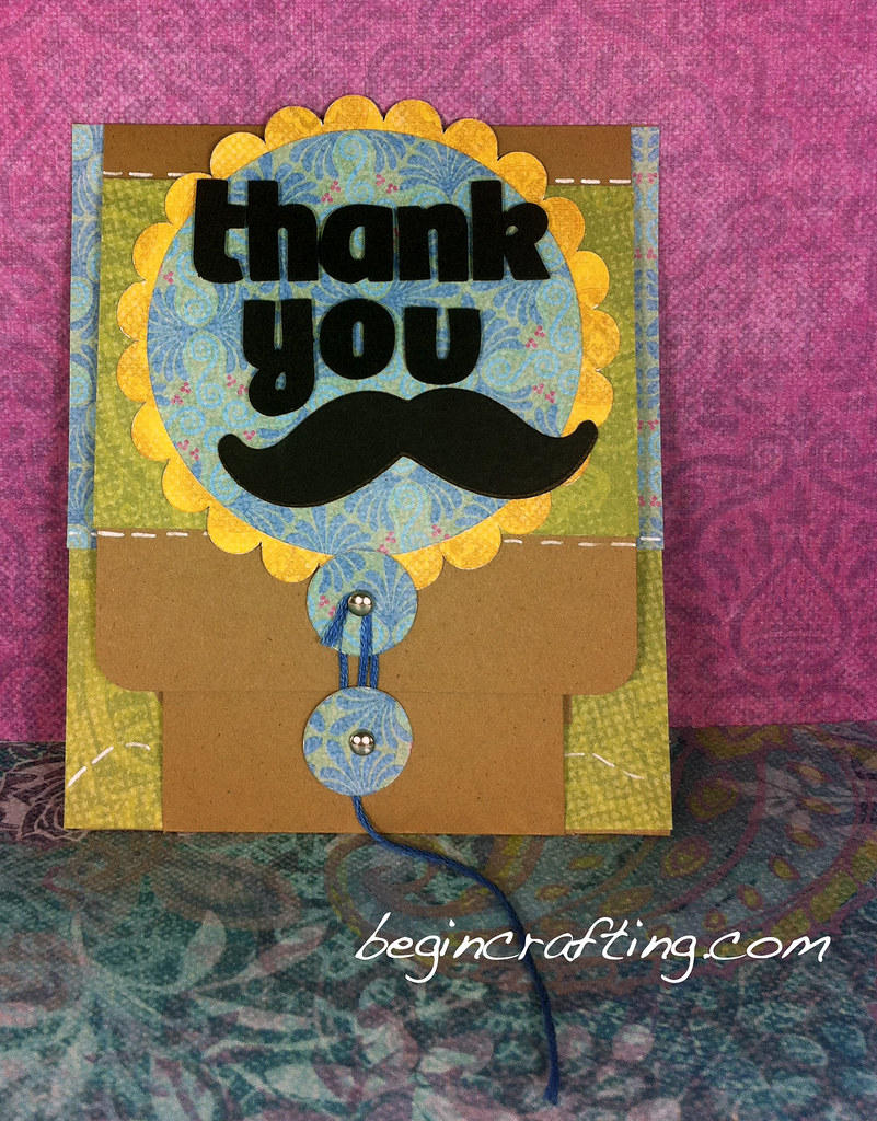 Thank You Mustache Card (outside)