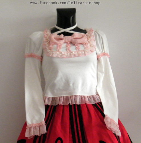 Angelic Pretty Chiffon ribbon cutsew